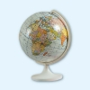 Глобус Земли физический Масштаб 1:83 млн. D-15,5 см